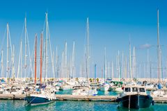 Masts of yachts Royalty Free Stock Photography