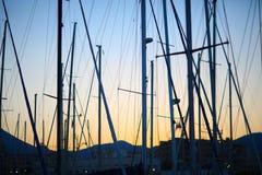 Masts of yachts Stock Photos
