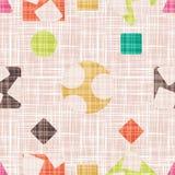 Maswerk jest dla tkanki z geometrycznymi kształtami Fotografia Royalty Free