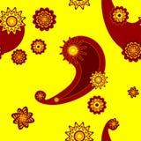 maswerku bezszwowy kolor żółty Fotografia Royalty Free