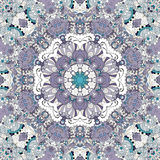 Maswerku mehndi etniczny ornament Nieszezególny dyskretny uspokaja motyw, używalny doodling kolorowy harmonijny projekt wektor Obraz Royalty Free