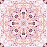 Maswerku mehndi etniczny ornament Nieszezególny dyskretny uspokaja motyw, używalny doodling kolorowy harmonijny projekt wektor Zdjęcia Stock