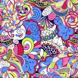 Maswerku mehndi etniczny ornament Nieszezególny dyskretny uspokaja motyw, używalny doodling kolorowy harmonijny projekt wektor Fotografia Stock
