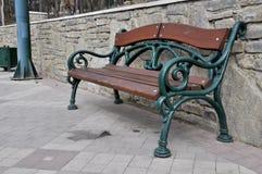 Masywna żelazna ławka obraz stock