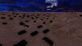 Masywna liczba czarni Beduińscy namioty przy nocą zbiory wideo