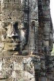 Masywne kamienne twarze Prasat Bayon zdjęcie royalty free