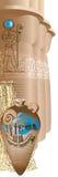 Masywne kolumny w ostrosłupie Antyczny Egipt Obrazy Royalty Free