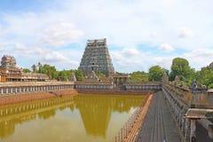Masywni antycznej świątyni chidambaram tamila nadu powikłani ind fotografia stock