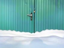 Masywny śnieg I Blokująca brama Obraz Royalty Free