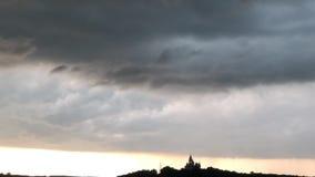 Masywny burzy formacji timelapse Burza i ulewny deszcz Ekstremum, surowy, wiosny pogoda zdjęcie wideo