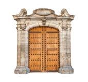 Masywny drzwi odizolowywający na biały tle. Obrazy Stock