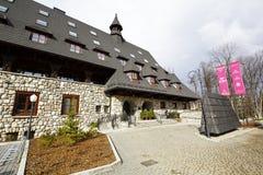 Masywny hotelowy budynek w Zakopane Fotografia Stock