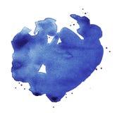 Masywny pluśnięcie Błękitna akwarela ilustracja wektor