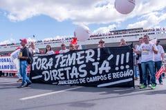 Masywny protest w Brasilia, Brasilia Zdjęcie Stock