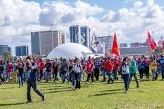 Masywny protest w Brasilia, Brasilia Fotografia Royalty Free