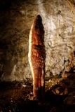 Masywny stalagmit w jamie zdjęcia royalty free