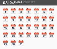 maszerujący ustawiać kalendarzowe ikony Daktylowy i czasie 2018 rok ilustracji