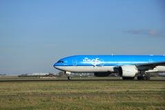 Maszeruje, 22nd 2015, Amsterdam Schiphol lotnisko PH-BQB KLM Królewski Du Zdjęcia Royalty Free