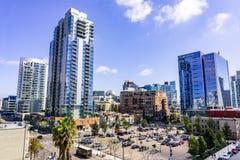Maszeruje 19 2019 San Diego, CA, usa,/- Miastowy krajobraz w Gaslamp ćwiartce w w centrum San Diego zdjęcia stock