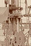 Maszt statek Obrazy Stock
