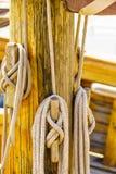 Masztowy olinowanie na łodzi Obrazy Royalty Free