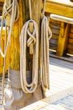 Masztowy olinowanie na łodzi Obrazy Stock