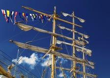 Maszty żeglowanie statek Fotografia Stock