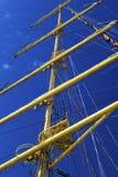 Maszty żeglowanie statek Obrazy Stock