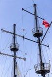 Maszty statki i Obraz Royalty Free