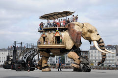 słoń maszyna Fotografia Royalty Free