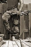 maszyna broń mężczyzny Fotografia Stock
