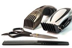 Maszyna dla fryzury i włosy drobiażdżarki Włosiani cążki i zdjęcia royalty free