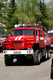 Maszyna dla gasić ogienie na podstawie samochodu Ural-5557 Zdjęcie Stock