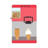 Maszyna dla lody menchii koloru ilustracji