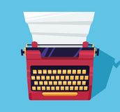 Maszyna do pisania kolor na stole Obrazy Stock