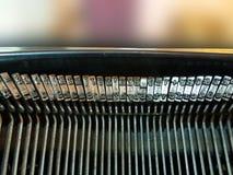 Maszyna do pisania listy Zdjęcia Stock