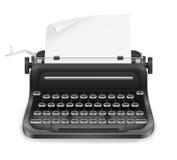 Maszyna do pisania rocznika ikony zapasu wektoru stara retro ilustracja Zdjęcia Stock