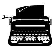 Maszyna do pisania rocznika ikony zapasu wektoru stara retro ilustracja Zdjęcia Royalty Free