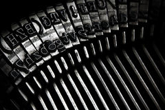 Maszyna do pisania starzy Klucze Zdjęcia Stock