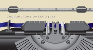 Maszyna do pisania typ chrzcielnica brajl royalty ilustracja