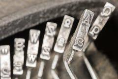 Maszyna do pisania Typebars A 04 Fotografia Royalty Free