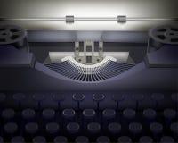 Maszyna do pisania.  Wektorowa ilustracja. ilustracja wektor