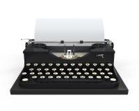 Maszyna do pisania z prześcieradłem papier ilustracji