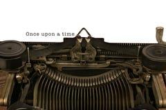 Maszyna do pisania Z słowami Once Na czas Zdjęcia Stock
