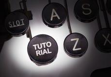 Maszyna do pisania z specjalnymi guzikami Zdjęcia Royalty Free