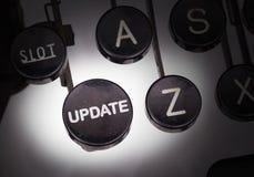 Maszyna do pisania z specjalnymi guzikami Obrazy Royalty Free