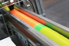 Maszyna pakuje przemysłu Obrazy Royalty Free