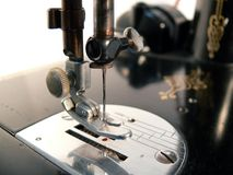 maszyna szyć makro fotografia stock