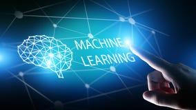Maszyna uczenie Głębocy algorytmy i AI Sztuczna inteligencja Interneta i technologii pojęcie na wirtualnym ekranie fotografia royalty free