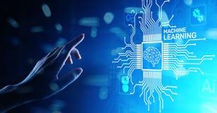 Maszyna uczenie G??bocy algorytmy, Sztuczna inteligencja, AI, automatyzacja i nowo?ytna technologia w biznesie jako poj?cie, fotografia royalty free